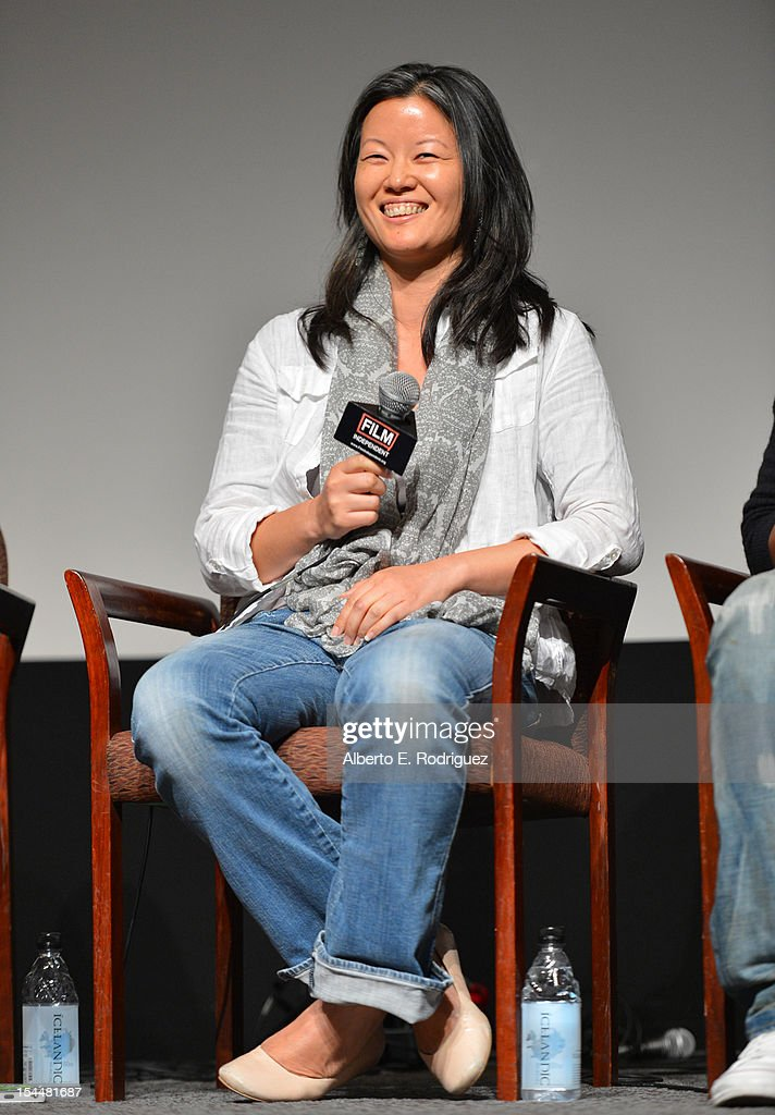 Producer <a gi-track='captionPersonalityLinkClicked' href=/galleries/search?phrase=Karin+Chien&family=editorial&specificpeople=4164723 ng-click='$event.stopPropagation()'>Karin Chien</a> speaks onstage during the Film Independent Film Forum at Directors Guild of America on October 20, 2012 in Los Angeles, California.