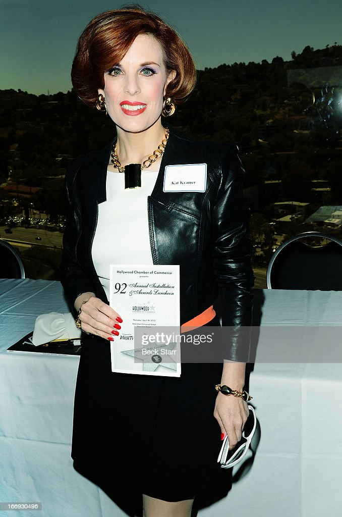 Producer Kat Kramer attends The Hollywood Chamber Of Commerce 92nd Annual Installation & Lifetime Achievement Awards luncheon at Sheraton Universal on April 18, 2013 in Universal City, California.