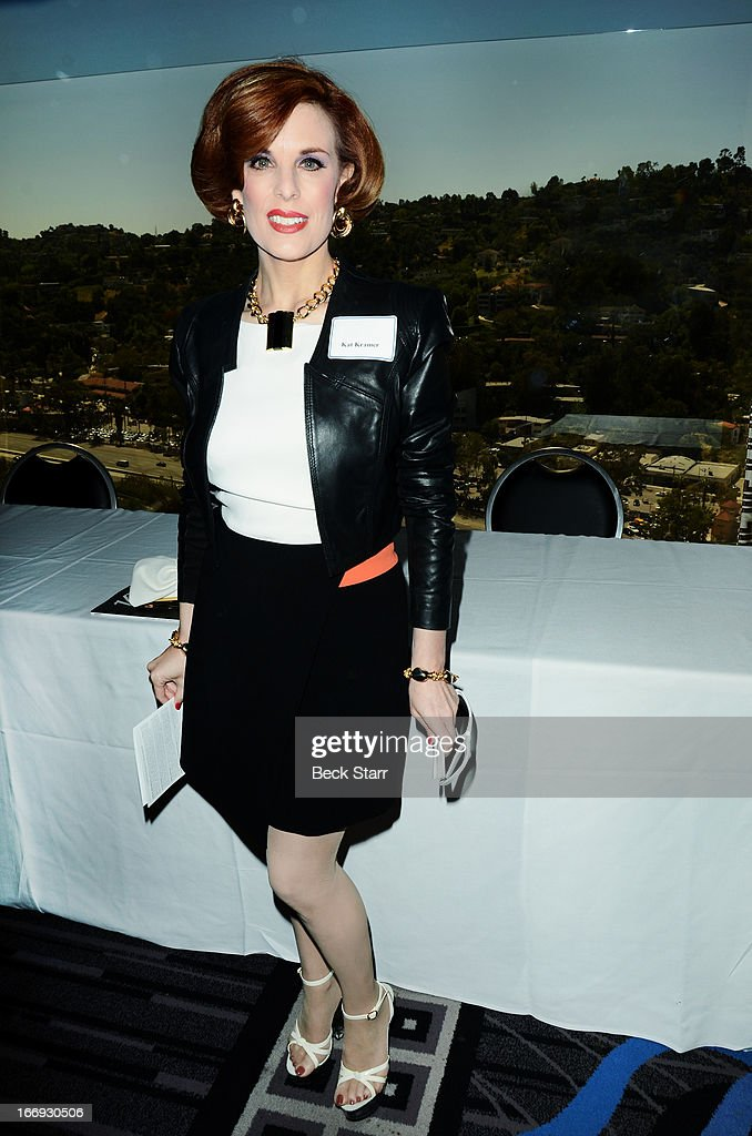 Producer <a gi-track='captionPersonalityLinkClicked' href=/galleries/search?phrase=Kat+Kramer&family=editorial&specificpeople=236074 ng-click='$event.stopPropagation()'>Kat Kramer</a> attends The Hollywood Chamber Of Commerce 92nd Annual Installation & Lifetime Achievement Awards luncheon at Sheraton Universal on April 18, 2013 in Universal City, California.