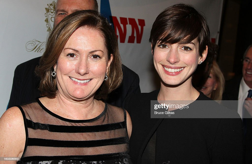 Producer Kate McCauley Hathaway and daughter <a gi-track='captionPersonalityLinkClicked' href=/galleries/search?phrase=Anne+Hathaway+-+Actress&family=editorial&specificpeople=11647173 ng-click='$event.stopPropagation()'>Anne Hathaway</a> attend the opening night of 'Ann' at Vivian Beaumont Theatre at Lincoln Center on March 7, 2013 in New York City.