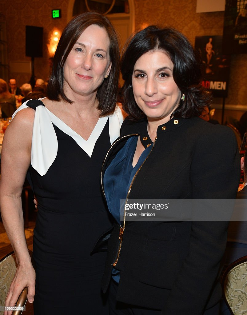 Producer Kathleen Kennedy (L) and Warner Bros. Pictures Worldwide Marketing President Sue Kroll attends the 13th Annual AFI Awards at Four Seasons Los Angeles at Beverly Hills on January 11, 2013 in Beverly Hills, California.