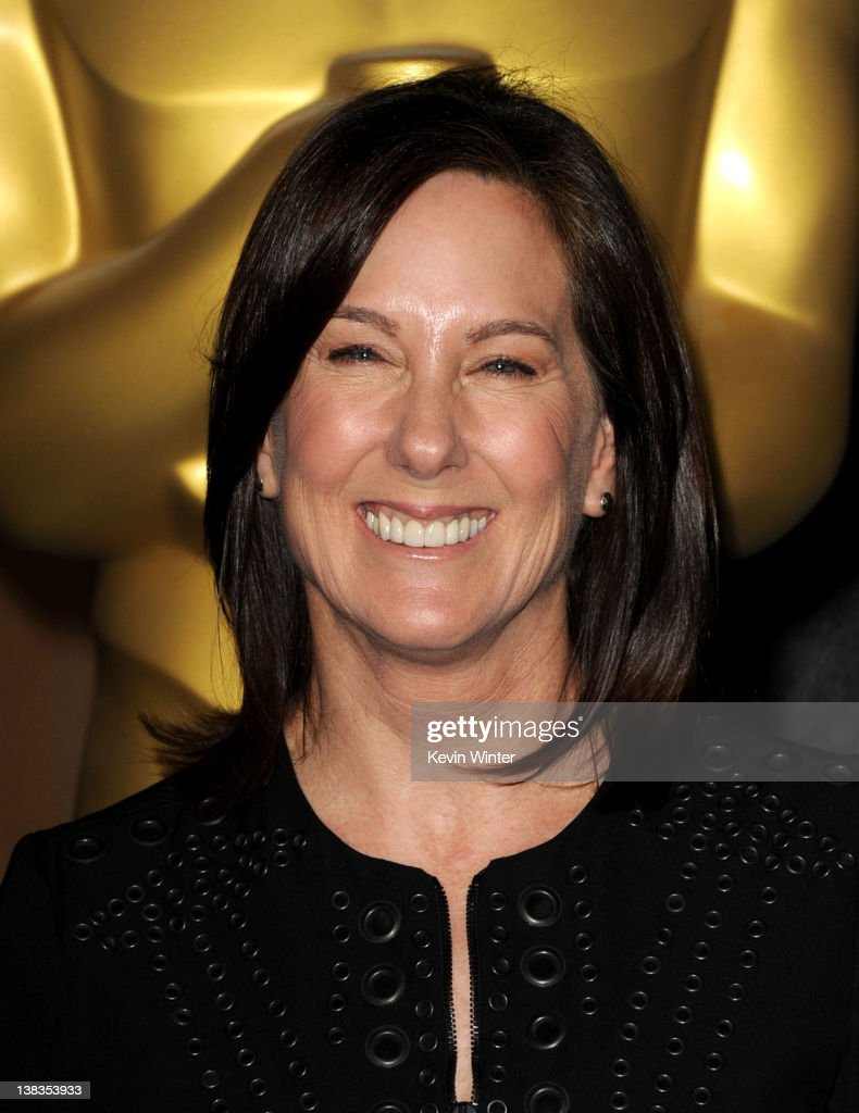 Producer Kathleen Kennedy arrives at the 84th Academy Awards Nominations Luncheon at The Beverly Hilton hotel on February 6 2012 in Beverly Hills...