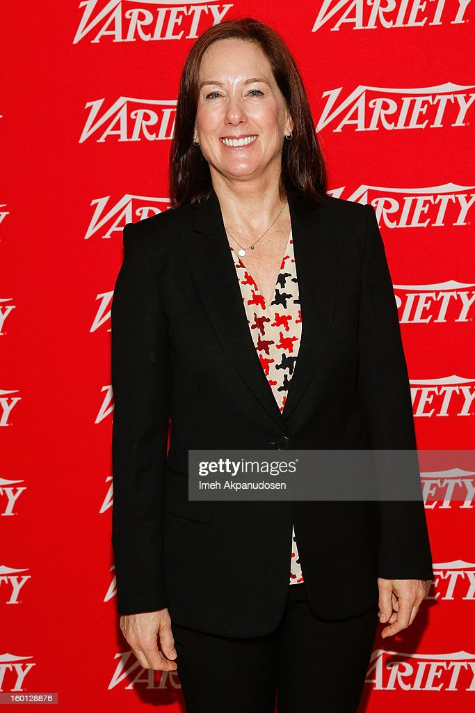 Producer Kathleen Kennedy attends the Producers Guild Awards Nominees Breakfast at the Landmark Theater on January 26, 2013 in Los Angeles, California.