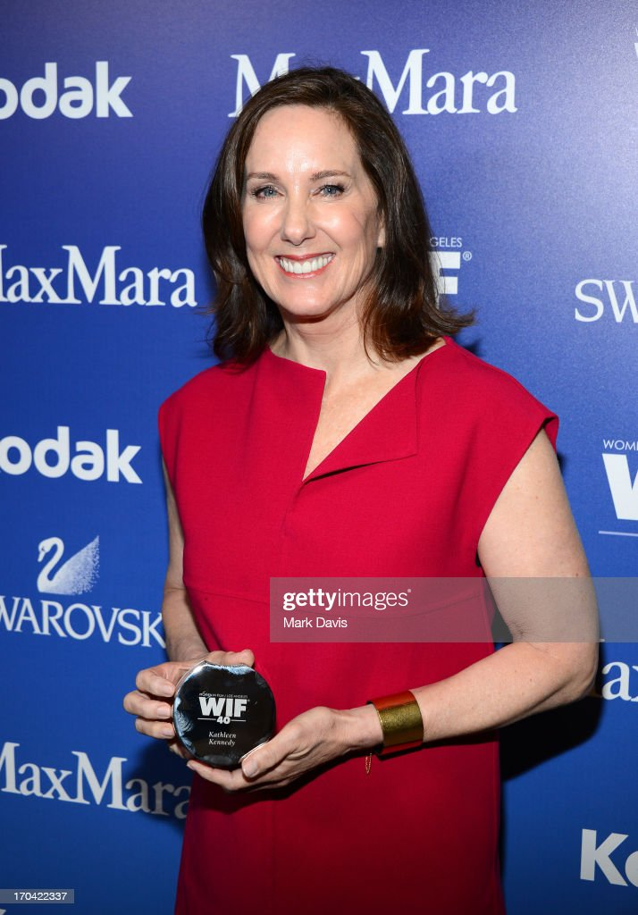 Producer <a gi-track='captionPersonalityLinkClicked' href=/galleries/search?phrase=Kathleen+Kennedy+-+Film+Producer&family=editorial&specificpeople=215256 ng-click='$event.stopPropagation()'>Kathleen Kennedy</a> attends Women In Film's 2013 Crystal + Lucy Awards at The Beverly Hilton Hotel on June 12, 2013 in Beverly Hills, California.