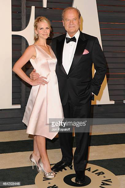 Producer Kayte Walsh and actor Kelsey Grammer attend the 2015 Vanity Fair Oscar Party hosted by Graydon Carter at Wallis Annenberg Center for the...