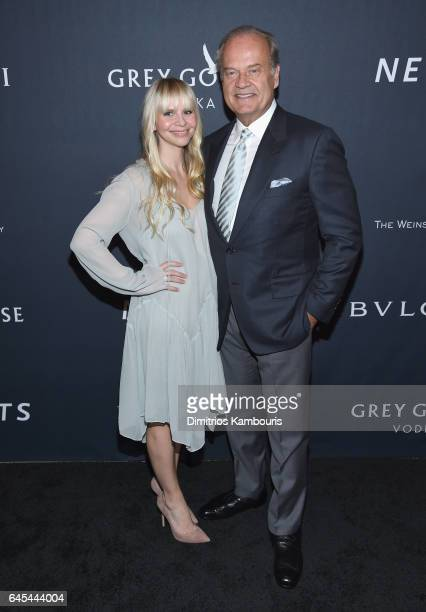 Producer Kayte Walsh and Kelsey Grammer attend The Weinstein Company's PreOscar Dinner in partnership with Bvlgari and Grey Goose at Montage Beverly...