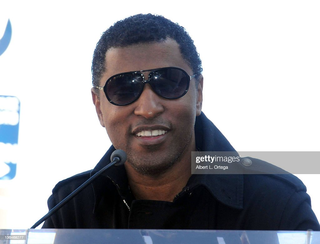 Producer Kenneth '<a gi-track='captionPersonalityLinkClicked' href=/galleries/search?phrase=Babyface&family=editorial&specificpeople=227435 ng-click='$event.stopPropagation()'>Babyface</a>' Edmonds at the Boyz II Men Hollywood Walk Of Fame ceremony held at 7060 Hollywood Blvd on January 5, 2012 in Hollywood, California.
