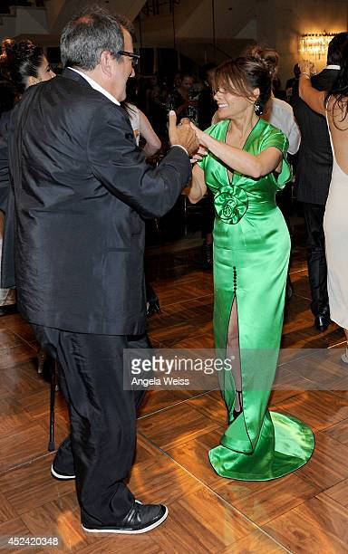 Producer Kenny Ortega and choreographer/tv personality Paula Abdul attend Dizzy Feet Foundation's Celebration Of Dance Gala at The Music Center on...