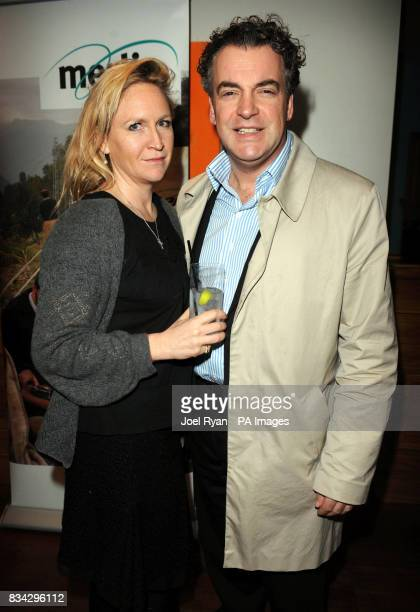 Producer Kenton Allen with partner and writer Imogen EdwardJones attend the screening of 'French Film' at the Soho Hotel in central London