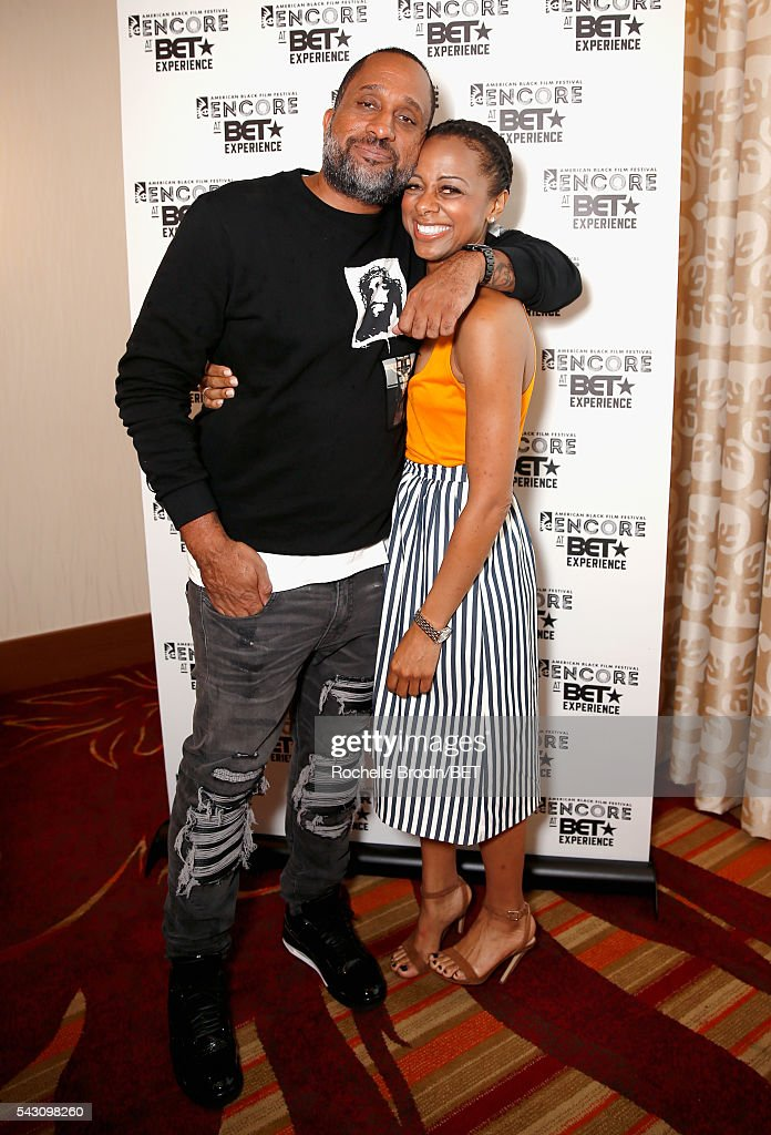 Producer Kenya Barris (L) and TV personality Nischelle Turner attend the ABFF Encore @ BET Experience Screening The Life of a Showrunner / Master Class during the 2016 BET Experience on June 25, 2016 in Los Angeles, California.