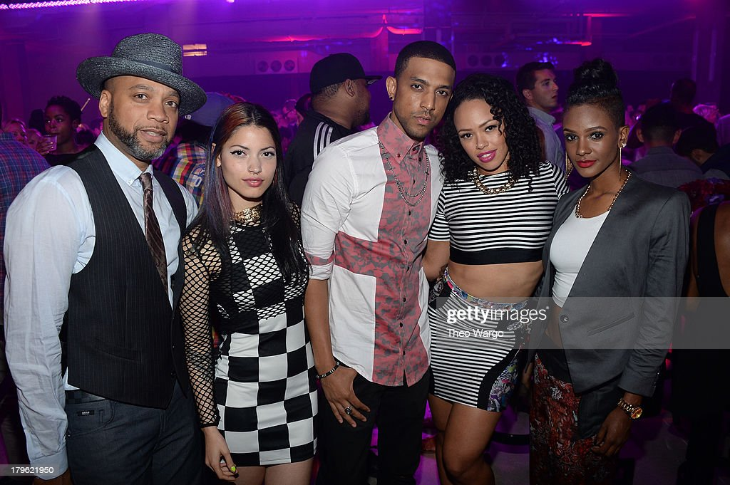 Producer Kerry Brothers, Jr., Maxine Ashley, Mateo, Elle Varner, and guest attend the VEVO And Styled To Rock Celebration Hosted by 'Styled to Rock' Mentor Erin Wasson with Performances by Bridget Kelly & Cazzette on September 5, 2013 in New York City.