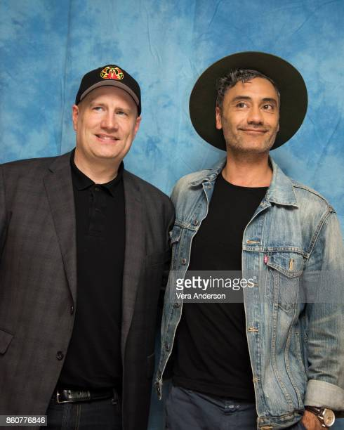 Producer Kevin Feige and director Taika Waititi at the 'Thor Ragnarok' Press Conference at the Montage Hotel on October 11 2017 in Beverly Hills...