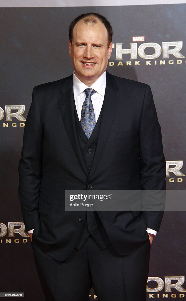 Producer <a gi-track='captionPersonalityLinkClicked' href=/galleries/search?phrase=Kevin+Feige&family=editorial&specificpeople=2262351 ng-click='$event.stopPropagation()'>Kevin Feige</a> attends the 'Thor: The Dark World' Germany premiere at Cinestar on October 27, 2013 in Berlin, Germany.