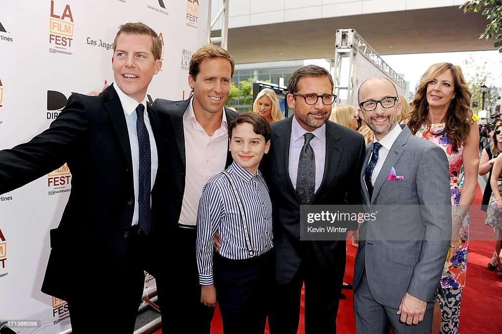 Producer Kevin J. Walsh, filmmaker <a gi-track='captionPersonalityLinkClicked' href=/galleries/search?phrase=Nat+Faxon&family=editorial&specificpeople=734812 ng-click='$event.stopPropagation()'>Nat Faxon</a>, actors River Alexander, <a gi-track='captionPersonalityLinkClicked' href=/galleries/search?phrase=Steve+Carell&family=editorial&specificpeople=595491 ng-click='$event.stopPropagation()'>Steve Carell</a>, filmmaker <a gi-track='captionPersonalityLinkClicked' href=/galleries/search?phrase=Jim+Rash&family=editorial&specificpeople=742689 ng-click='$event.stopPropagation()'>Jim Rash</a> and actress <a gi-track='captionPersonalityLinkClicked' href=/galleries/search?phrase=Allison+Janney&family=editorial&specificpeople=206290 ng-click='$event.stopPropagation()'>Allison Janney</a> attend the premiere of Fox Searchlight Pictures' 'The Way, Way Back' at Regal Cinemas L.A. Live on June 23, 2013 in Los Angeles, California.