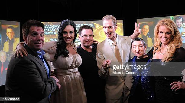 Producer Kevin Marcus actress Valerie Perez producer Bradley Marcus actor Doug Jones actress Naomi Grossman and actress Chase Masterson at the 2015...