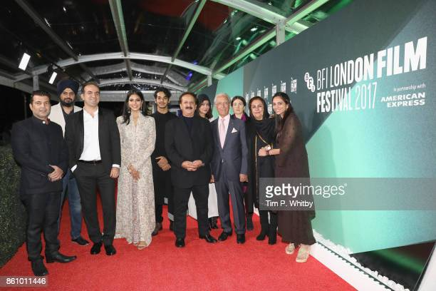 Producer Kishor Arora Kanwal Kohli a guest Malavika Mohanan Ishaan Khatter director Majid Majidi and producer Shareen Mantri Kedia attend the World...