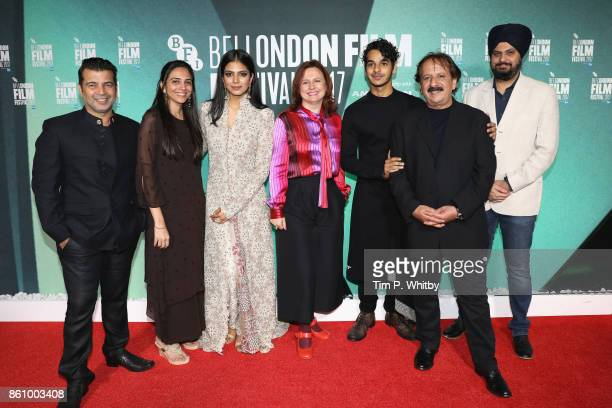 Producer Kishor Arora producer Shareen Mantri Kedia Malavika Mohanan BFI festival director Clare Stewart Ishaan Khatter director Majid Majidi and...