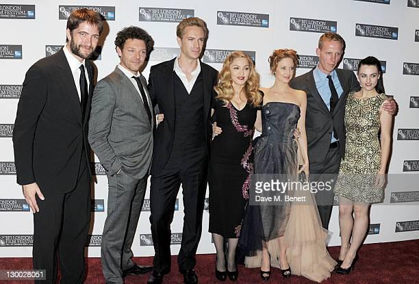 Producer Kris Thykier actors Richard Coyle James D'Arcy filmmaker Madonna actors Andrea Riseborough Laurence Fox and Katie McGrath attend the...