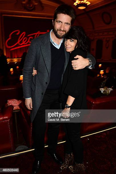 Producer Kris Thykier and his wife Claudia Winkleman attend the screening of 'Trash' hosted by Claudia Winkleman Emma Freud and Laura Bailey at The...