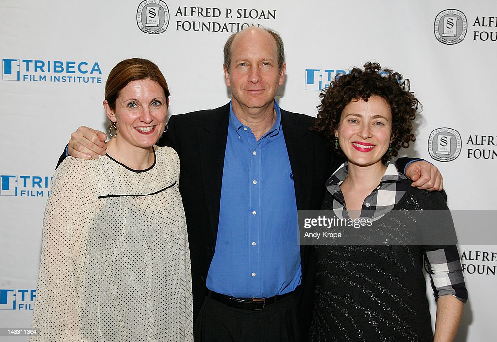Producer Kristin Fairweather, Alfred P. Sloan Foundation's Doron Weber and director Jenny Deller attend the Sloan WIP Readings & Cocktails during the 2012 Tribeca Film Festival at the Green Space on April 23, 2012 in New York City.
