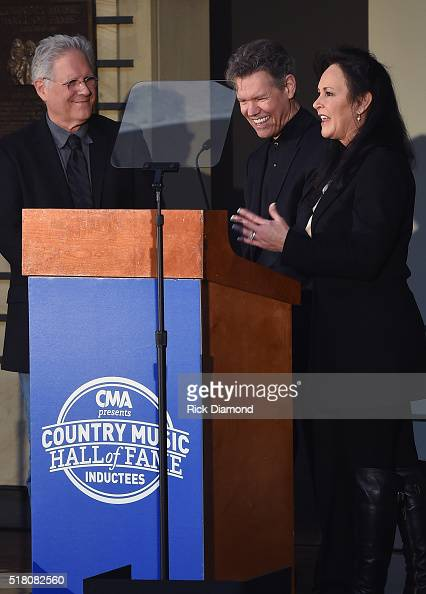 Producer Kyle Lehning New Inductee Randy Travis with his wife Mary Davis attend the CMA Presentation of The 2016 Country Music Hall Of Fame Inductees...