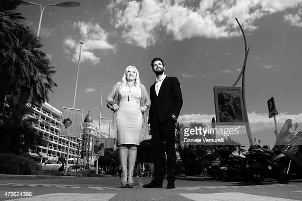 Producer Lady Monika Bacardi and Andrea Iervolino of AMBI Pictures pose for a portrait session during the 2015 Cannes Film Festival on May 16 2015 in...
