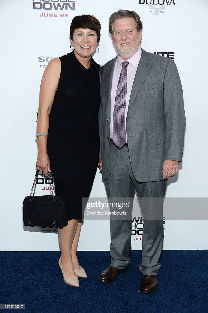Producer Larry J. Franco (R) attends 'White House Down' New York premiere at Ziegfeld Theater on June 25, 2013 in New York City.