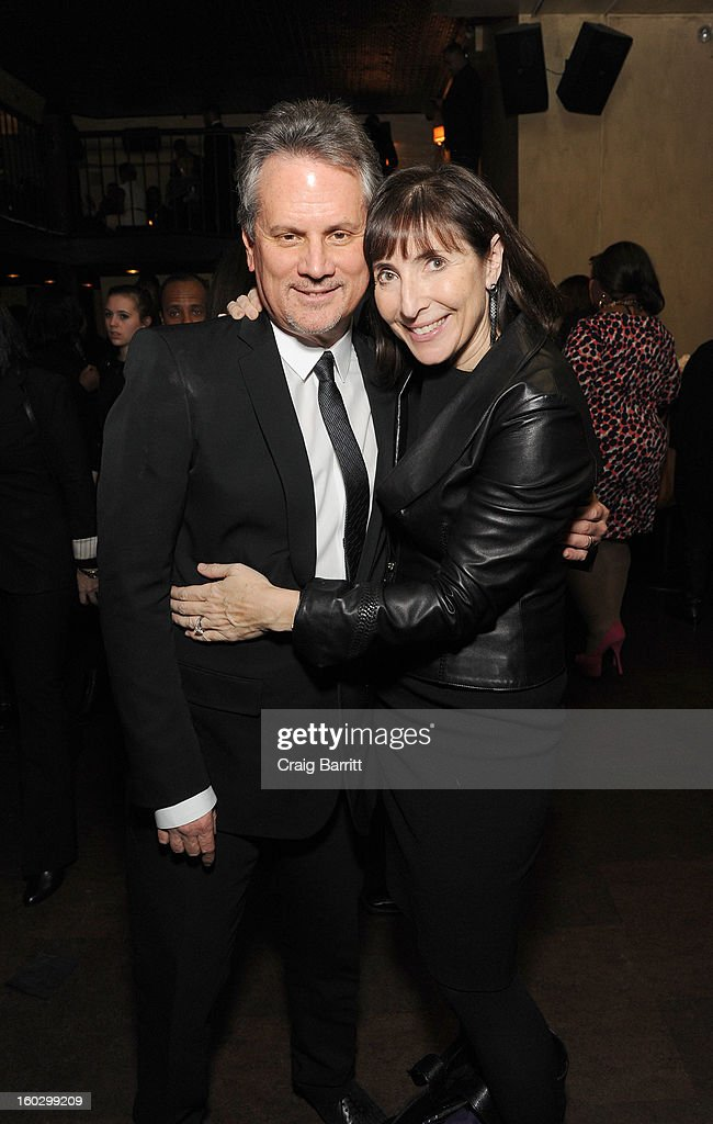 Producer Larry Sanitsky and wife Nancy Sanitsky attend the premiere of 'Betty & Coretta' to celebrate with Lifetime and cast at Tribeca Cinemas on January 28, 2013 in New York City.