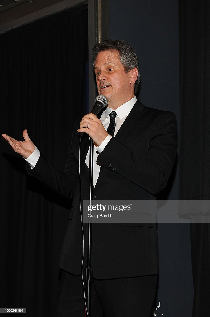 Producer Larry Sanitsky speaks at the premiere of 'Betty & Coretta' to celebrate with Lifetime and cast at Tribeca Cinemas on January 28, 2013 in New York City.