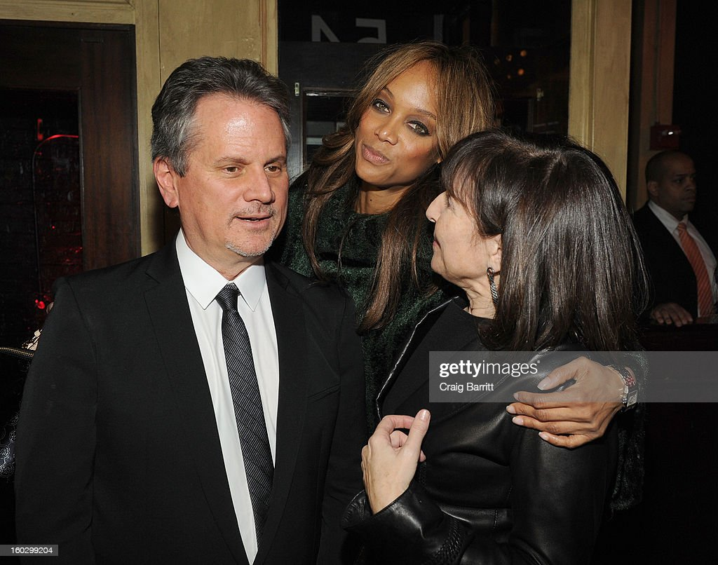 Producer Larry Sanitsky, Tyra Banks and Nancy Sanitsky attend the premiere of 'Betty & Coretta' to celebrate with Lifetime and cast at Tribeca Cinemas on January 28, 2013 in New York City.