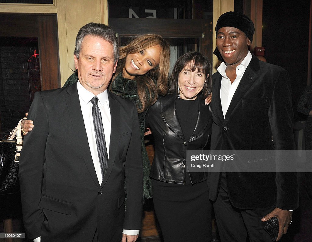 Producer Larry Sanitsky, Tyra Banks, Nancy Sanitsky and Miss J. Alexander attend the premiere of 'Betty & Coretta' to celebrate with Lifetime and cast at Tribeca Cinemas on January 28, 2013 in New York City.