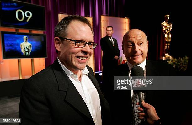 Producer Laurence Mark and writer–director Bill Condon who together will produce the 81st Annual Academy Awards telecast talk to media outlets after...