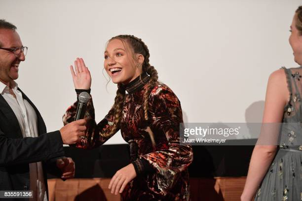 Producer Laurent Zeitoun actress/dancer Maddie Ziegler and actress/singer Carly Rae Jepsen attend the Weinstein Company's 'LEAP' at The Grove on...