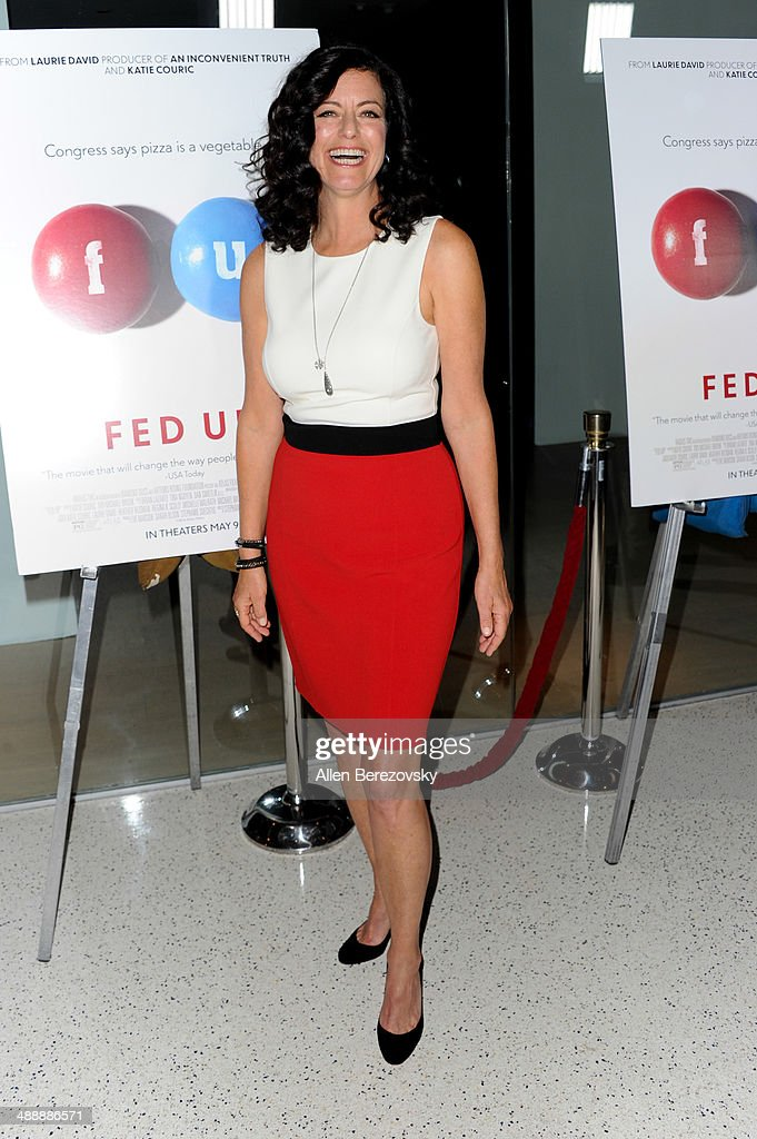 Producer <a gi-track='captionPersonalityLinkClicked' href=/galleries/search?phrase=Laurie+David&family=editorial&specificpeople=556147 ng-click='$event.stopPropagation()'>Laurie David</a> arrives at the Los Angeles premiere of 'Fed Up' at Pacfic Design Center on May 8, 2014 in West Hollywood, California.
