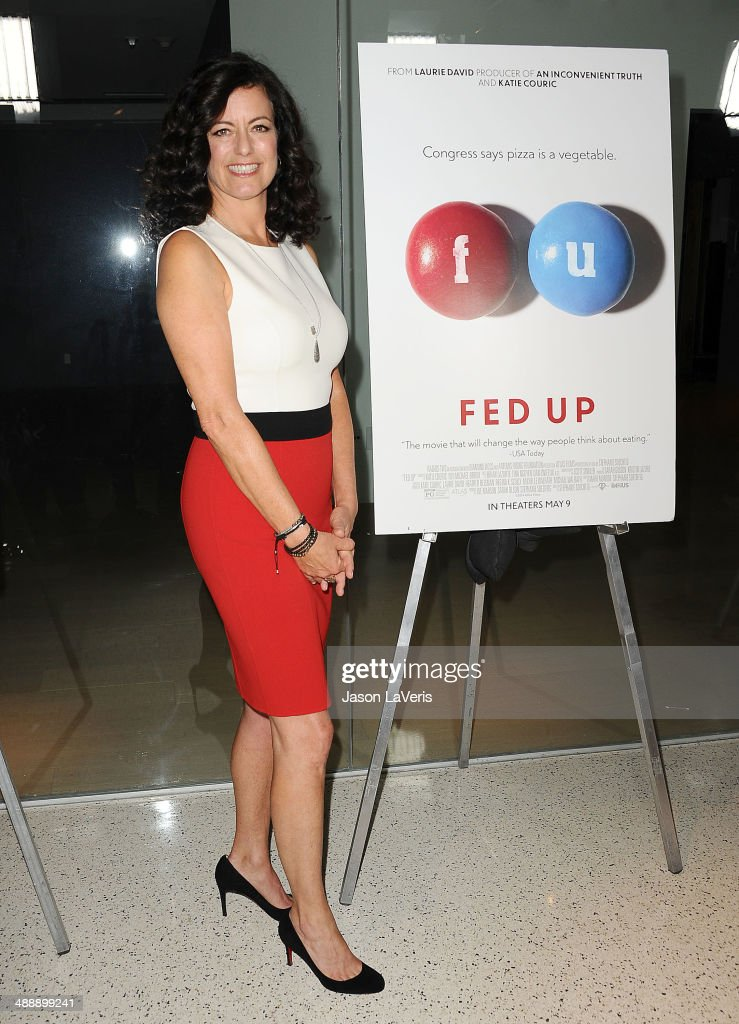 Producer <a gi-track='captionPersonalityLinkClicked' href=/galleries/search?phrase=Laurie+David&family=editorial&specificpeople=556147 ng-click='$event.stopPropagation()'>Laurie David</a> attends the premiere of 'Fed Up' at Pacfic Design Center on May 8, 2014 in West Hollywood, California.