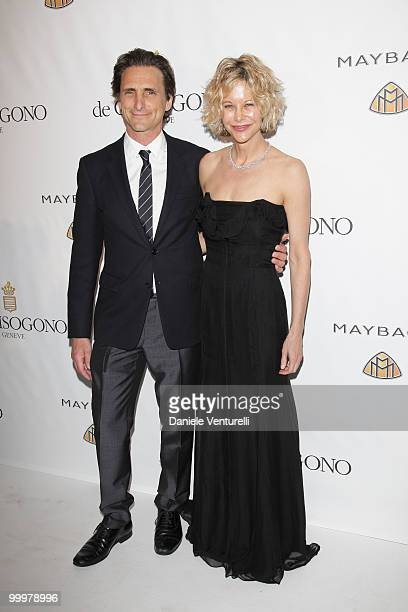 Producer Lawrence Bender and Actress Meg Ryan attend the de Grisogono party at the Hotel Du Cap on May 18 2010 in Cap D'Antibes France