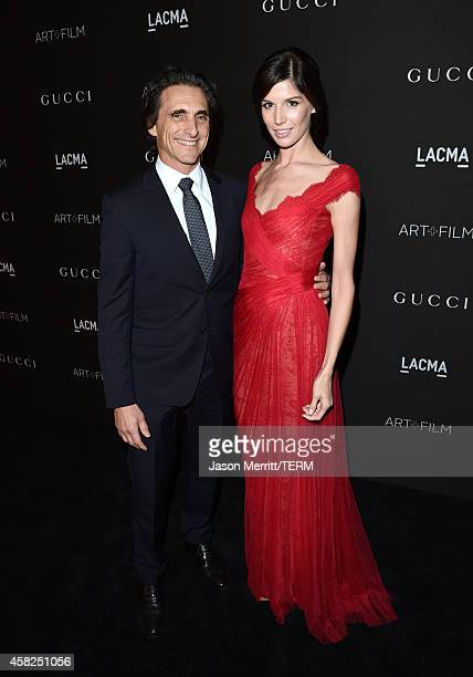 Producer Lawrence Bender and guest attend the 2014 LACMA Art Film Gala honoring Barbara Kruger and Quentin Tarantino presented by Gucci at LACMA on...