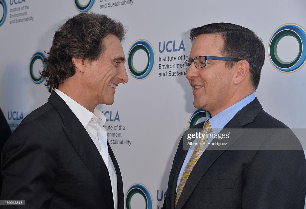 Producer Lawrence Bender and Managing Partner of The Pritzker Group, Anthony Pritzker attend An Evening of Environmental Excellence presented by the UCLA Institute of the Environment and Sustainability on March 21, 2014 in Beverly Hills, California.