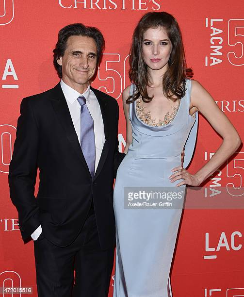 Producer Lawrence Bender and Michelle Box arrive at LACMA's 50th Anniversary Gala at LACMA on April 18 2015 in Los Angeles California