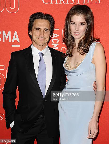 Producer Lawrence Bender and Michelle Box attend LACMA's 50th anniversary gala at LACMA on April 18 2015 in Los Angeles California