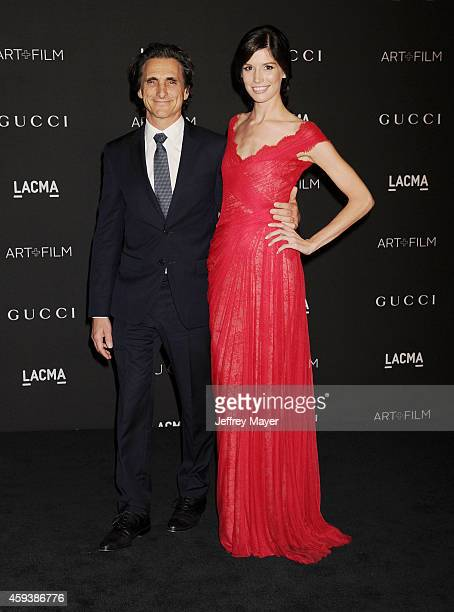 Producer Lawrence Bender and Michelle Box attend the 2014 LACMA Art Film Gala honoring Barbara Kruger and Quentin Tarantino presented by Gucci at...