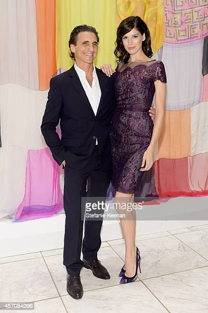 Producer Lawrence Bender and Michelle Box attend the Hammer Museum's 12th annual Gala in the Garden with generous support from Bottega Veneta at the...