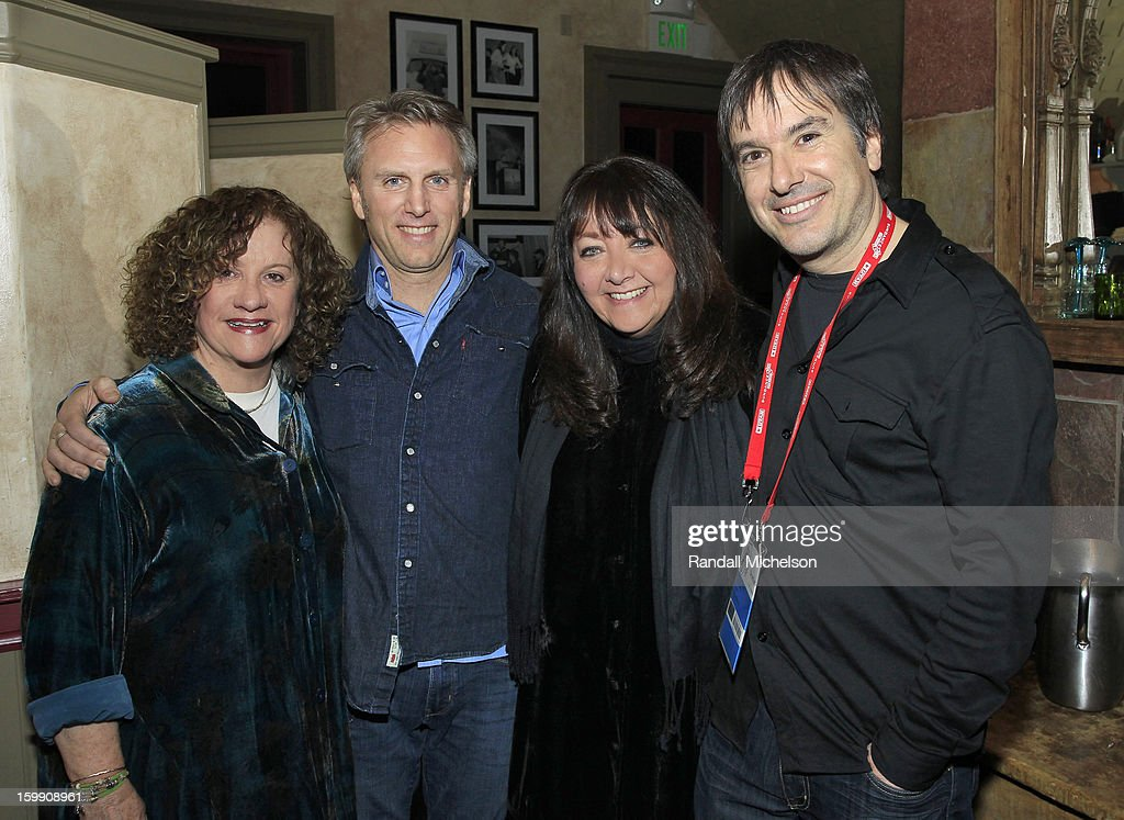 Producer Linda Livingston, Producer Stephen Badger, BMI Executive Doreen Ringer-Ross and Director Greg Camalier attend the BMI Sundance Dinner at Zoom Restaurant on January 22, 2013 in Park City, Utah.