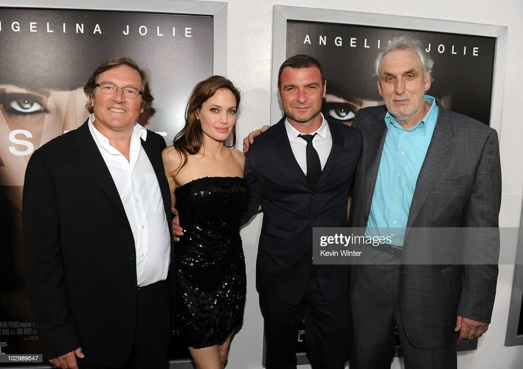 Producer Lorenzo di Bonaventura actress Angelina Jolie actor Liev Schreiber and director Phillip Noyce arrive at the premiere of Sony Pictures'...