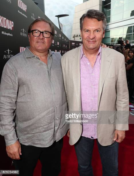 Producer Lorenzo di Bonaventura and William Sadleir Chairman Aviron Capital attends the premiere of Aviron Pictures' 'Kidnap' at ArcLight Hollywood...