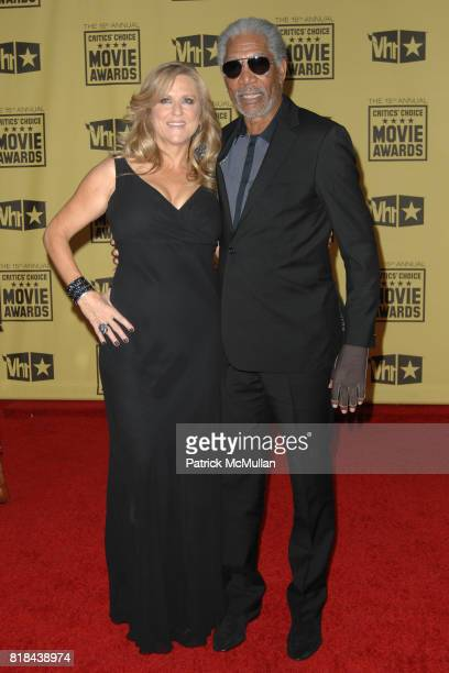 Producer Lori McCreary and Morgan Freeman attend 2010 Critics Choice Awards at The Palladium on January 15 2010 in Hollywood California