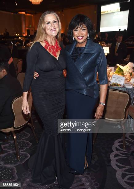 Producer Lori McCreary and president of the Academy of Motion Picture Arts and Sciences Cheryl Boone Isaacs attend the 69th Annual Directors Guild of...