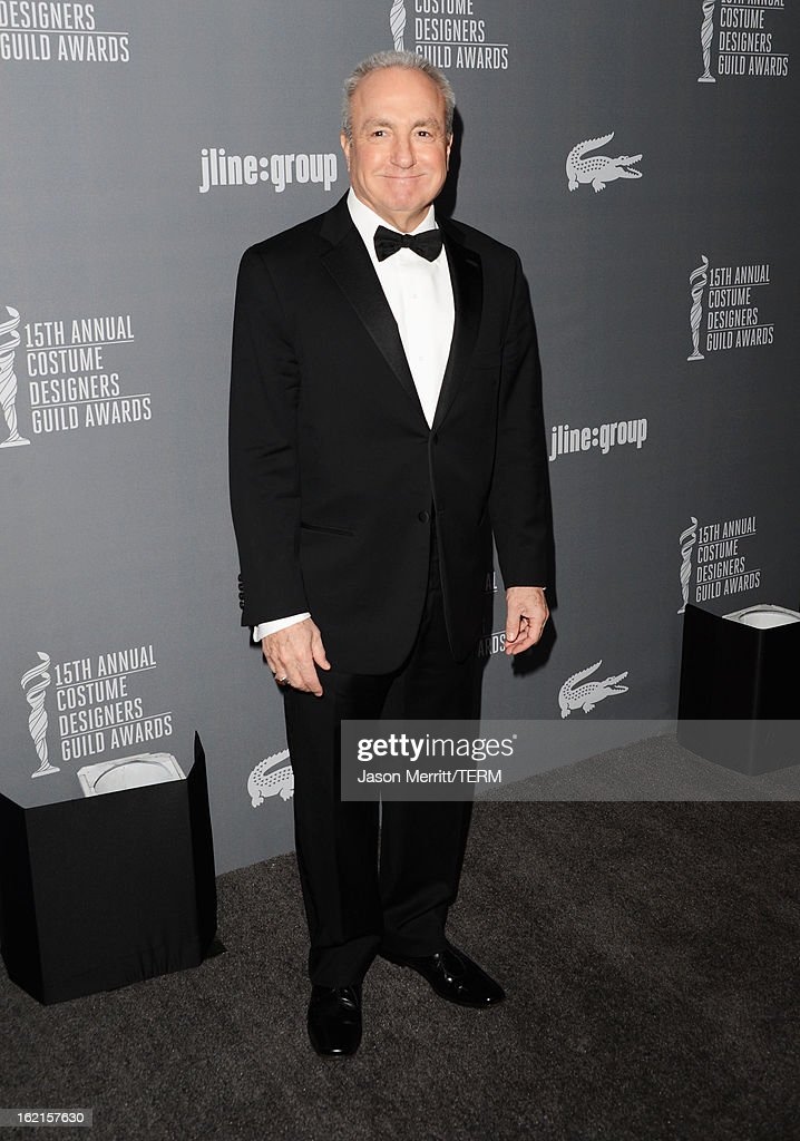 Producer <a gi-track='captionPersonalityLinkClicked' href=/galleries/search?phrase=Lorne+Michaels&family=editorial&specificpeople=207010 ng-click='$event.stopPropagation()'>Lorne Michaels</a> attends the 15th Annual Costume Designers Guild Awards with presenting sponsor Lacoste at The Beverly Hilton Hotel on February 19, 2013 in Beverly Hills, California.
