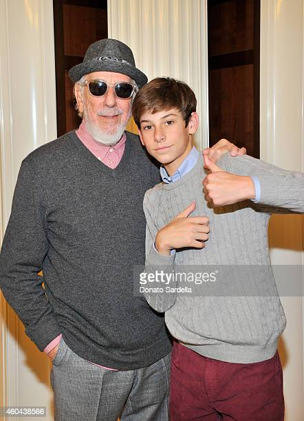 Producer Lou Adler and DJ Oscar Adler attend as Brooks Brothers celebrates the holidays with St Jude Children's Research Hospital and Town Country at...