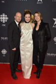 Producer Luc Dery actress Evelyn Brochu and producer Kim McCraw arrive at the Canadian Screen Awards at the Sony Centre for the Performing Arts on...